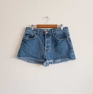 Forever 21 BUTTON Fly Jean Shorts
